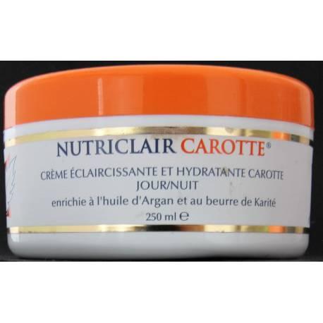 Nutriclair carotte crème éclaircissante et hydratante jour et nuit