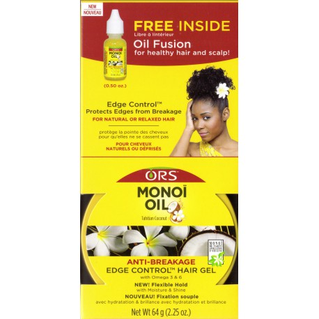 ORS Monoï oil anti-breakage edge control hair gel