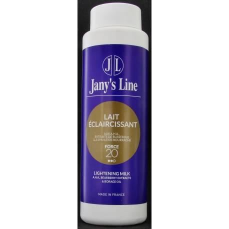 jany's line lait eclaircissant aux A.H.A.extraits de busserole et l'huile de bourrache force 20