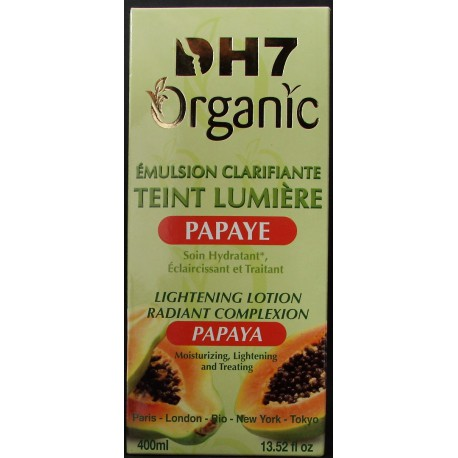dh7 organic émulsion clarifiante teint lumiérepapaye