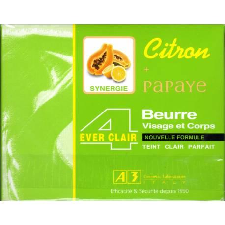 A3 ever clair 4 visage et corps citron papaye beurre