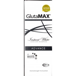 glutamax fnstant white lotionwith glutathione lait de beauté éclaircissant