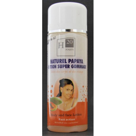 h20 jour naturel papaya lotion surper gommage