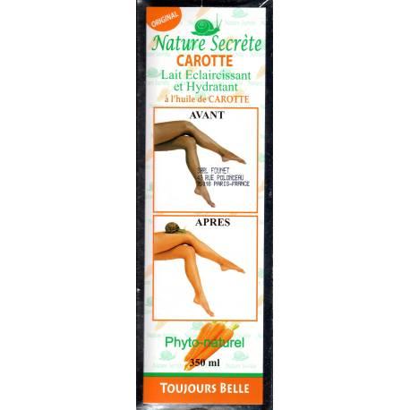 nature secréte carotte lait éclaircissant et hydratant
