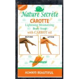 nature secréte carotte savon éclaircissant et hydratant