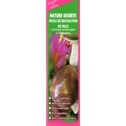 nature secrète huile de réparation de peau à la bave d'escargot+collagène