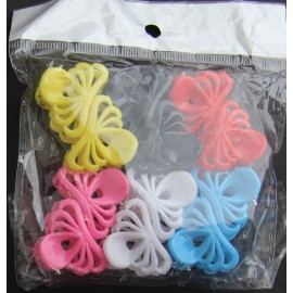 Mini hair clips 12 pieces - 6 colors