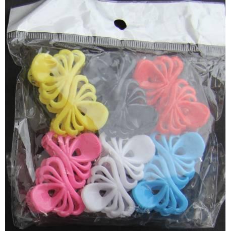 Mini hair clips 12 pieces - 6 colors