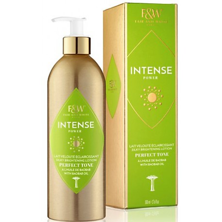 Fair and White Intense Power Silky Brightening Lotion with baobab oil