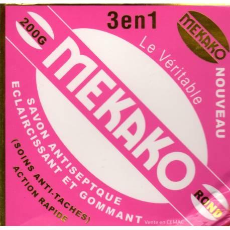 Mekako savon antiseptique éclaircissant et gommant 3 en 1