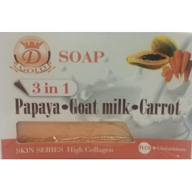 Papaya + Goat milk + Carrot Soap 3 in 1