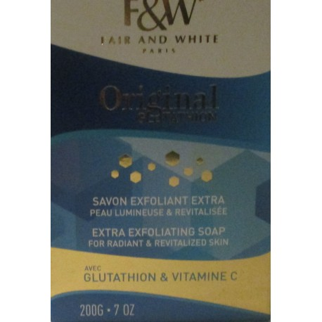 fair and white original glutathion savon