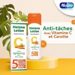 melano lait a la carotte et vitamine c