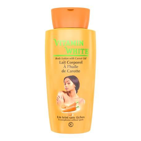 Vitamin white lait corporel a l'huile de carotte