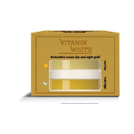 Vitamin white crème réparatrice jour au gold