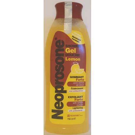 Neoprosone gel douche gommant avec extrait de citron