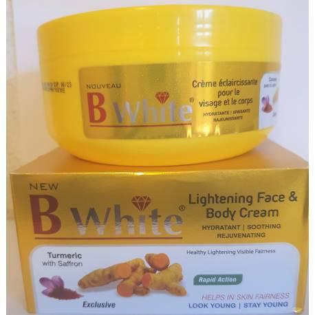 B white créme éclaircissante pour le visage et le corps